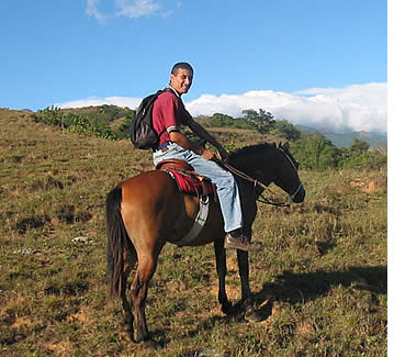 Franklin Rovetto, owner and horsebreeder will be your guide in the Caldera Horseback Riding Tour